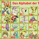 Alphabet der Tiere | Poster