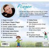"""Kinderlieder-CD """"Fliegen"""": Rückseite"""