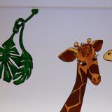 Giraffen über dem Whiteboard
