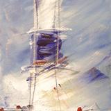 Kühe vor dem Kampener Leuchtturm 2002