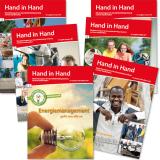 """Mitarbeitermagazin """"Hand in Hand"""" der Gesundheitsholdung Lüneburg: Titelseiten"""