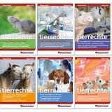 """Magazin """"tierrechte"""" des Bundesverbands Menschen für Tierrechte e.V.: Titelseiten"""