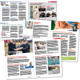 """Mitarbeitermagazin """"Hand in Hand"""" der Gesundheitsholdung Lüneburg: Innenseitenlayout"""