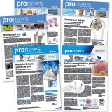 """Fachnewsletter """"pronews"""" von Zimmer Biomet: Titelseiten"""