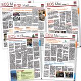 """Zeitung """"EOS-Mail"""" für die Mitarbeiter der EOS-Gruppe: Titelseiten"""