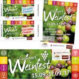 Casinopark Weinfest: Banner, Flyer, Verzehr- und Getränkecoupons