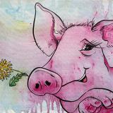 Ein Bild von einem Schwein