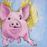 Enies glücksgeengeltes Schutzschweinchen