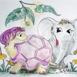 Jils Schildkroete und Elefant